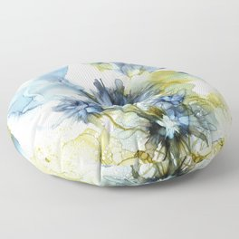 Alcohol Ink - Blue Floral Series 2 Floor Pillow