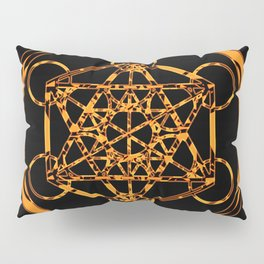 Metatron Cube Gold Pillow Sham