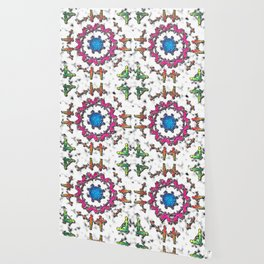 Alien Artefact Mandala Pattern Wallpaper