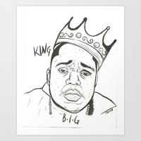 biggie Art Prints featuring Biggie by Creen