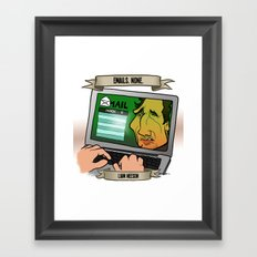 Emails. None. (Liam Neeson) Framed Art Print
