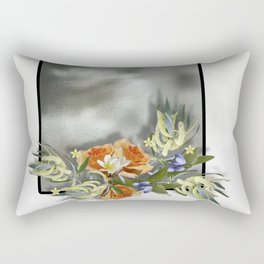 Beautiful bouquet of flowers on shiny background Rectangular Pillow