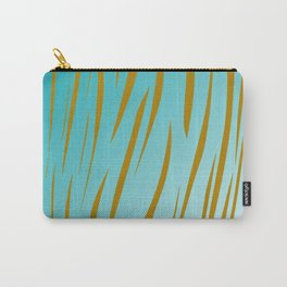 Design exotic vint. lines - gold, blue Carry-All Pouch