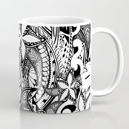 Hawaiian Polynesian Trbal Tatoo Print Coffee Mug