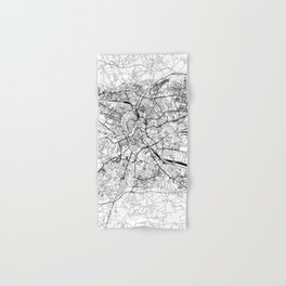 Krakow White Map Hand & Bath Towel