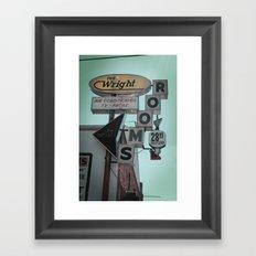 The Wright Framed Art Print
