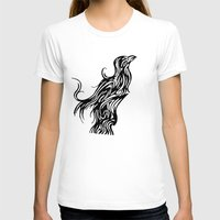 nordic T-shirts featuring Nordic Raven by Jeremy Buckley illustration