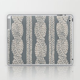 Cable Knit Grey Laptop & iPad Skin