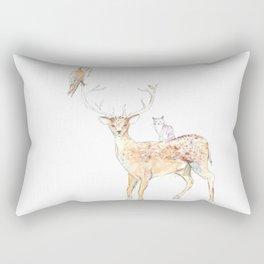Deer with friends Rectangular Pillow