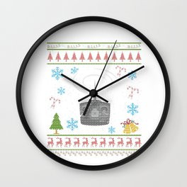 RC Controller Remote Controller Christmas Ugly Shirt Wall Clock