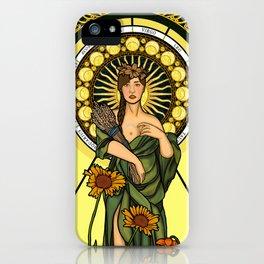 Queen of gluten/Goddess of harvest iPhone Case