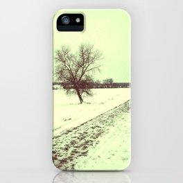 vintage winter iPhone Case