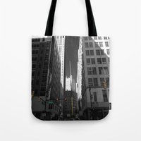 detroit Tote Bags featuring Detroit  by Galaxys_Limit