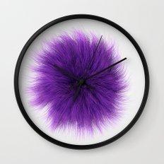Purple Fuzz Wall Clock
