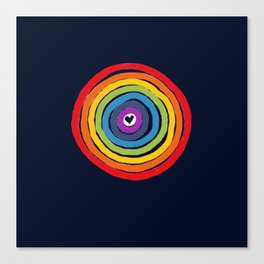Bulls Eye  to love Canvas Print