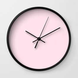 Light Candy Pink Solid Wall Clock