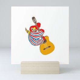 Heroes Sloth Vintage Guitar Mini Art Print