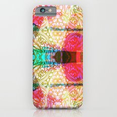 Flower Dreamscape - Painting, Illustration, pink, purple, yellow, blue iPhone 6 Slim Case