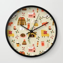 winter hygge Wall Clock