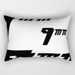 Nueve milimetros Rectangular Pillow