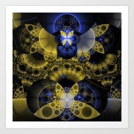 Nexus of Fractal Butterflies Seen Thru Puppy Eyes Art Print