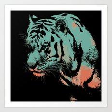 Tiger art print wild animal  Art Print