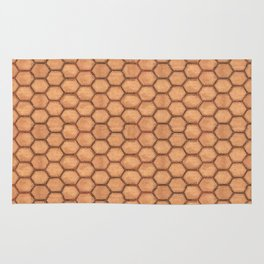 Honeycomb Leather Pattern Design Rug