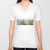 milan V-neck T-shirts featuring Milan - Underground by Sandra Liarte