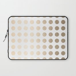 Simply Polka Dots in White Gold Sands Laptop Sleeve