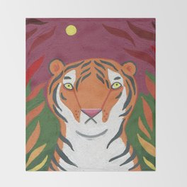 Fire Tiger Throw Blanket