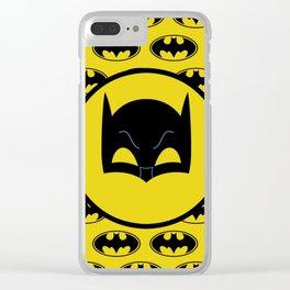 Super Hero Bat Shield Clear iPhone Case