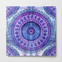 Hydrangea Mandala Metal Print