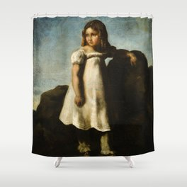 """Théodore Géricault """"Elisabeth Dedreux as a child in the countryside"""" Shower Curtain"""