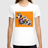 puppies T-shirts featuring Dalmatian Puppies by Chip Dar Juan