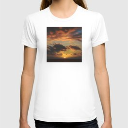 Red Tropical Sunset T-shirt