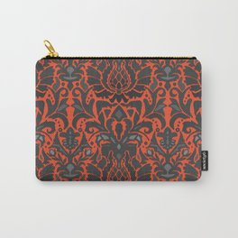 Aya damask orange Carry-All Pouch