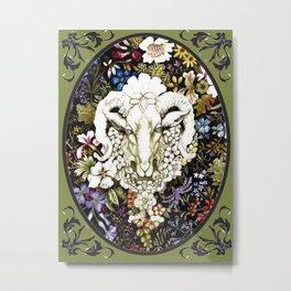 Spring Goat Cameo Version Metal Print