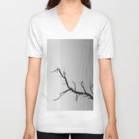 wood V-neck T-shirts featuring Wood by Laura James Cook
