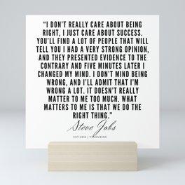 24       Steve Jobs Quotes   190720 Mini Art Print