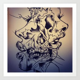 Two-faced Art Print