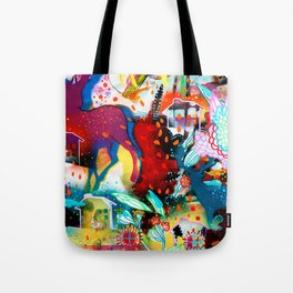 the nordic summer night Tote Bag