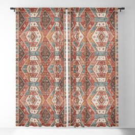 Geometric Oriental Vintage Traditional Moroccan Style Blackout Curtain