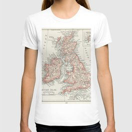 Universal Atlas of the World A cartographic map of the British Isles published in 1900 T-shirt