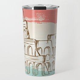 Colosseum hand drawn Travel Mug
