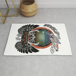The Black Wings of the King of the World Rug