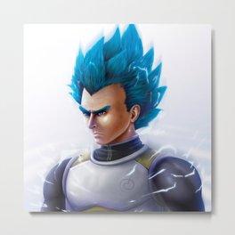 Super Saiyn Blue Metal Print