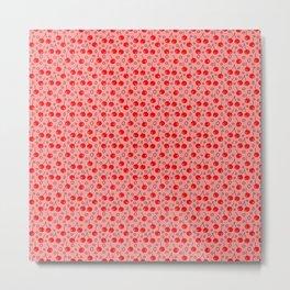 Cherries on Pink Metal Print