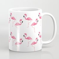 flamingo Mugs featuring Flamingo by Vickn