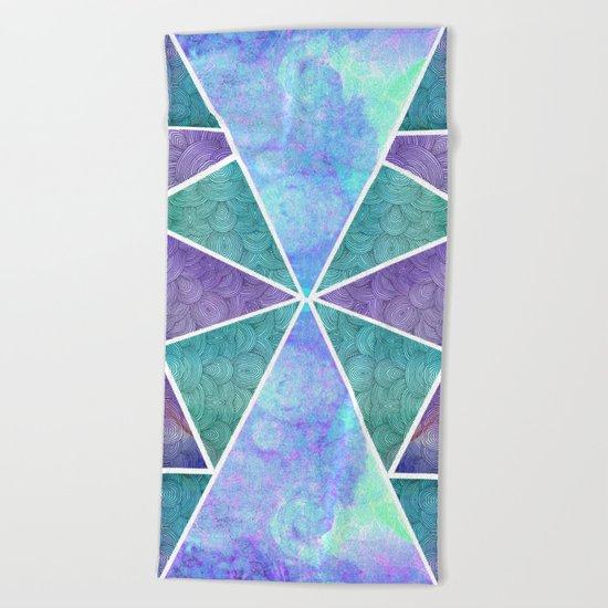 Geometric Reflection Beach Towel