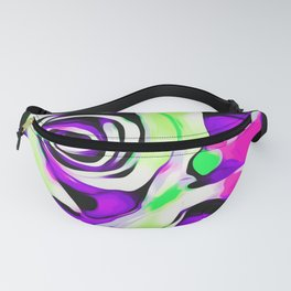 rose texture abstract in pink purple green Fanny Pack